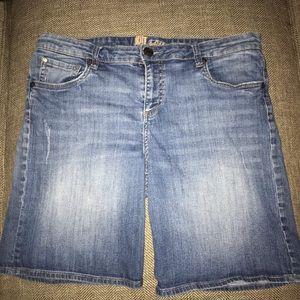 EUC Kut from the kloth Jean Shorts Size 14.